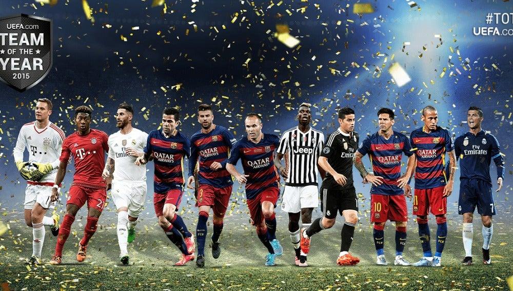 El equipo del año para la UEFA