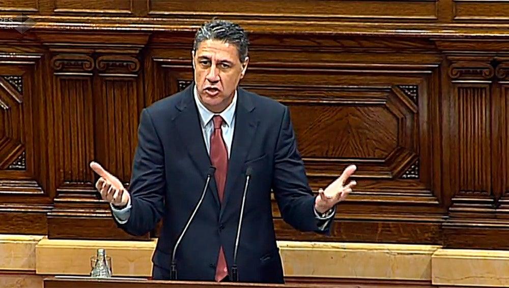Xavier García Albiol, en el Parlament