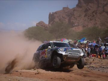 Nasser Al Attiyah en la octava etapa del Dakar 2016