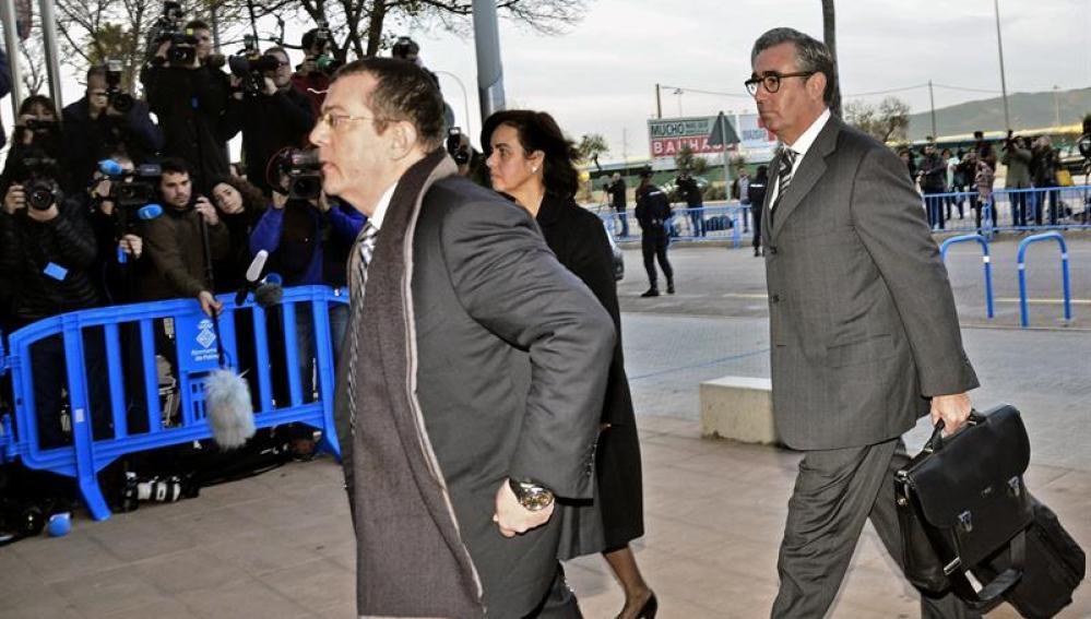Diego Torres, socio de Iñaki Urdangarin, a su llegada al juicio