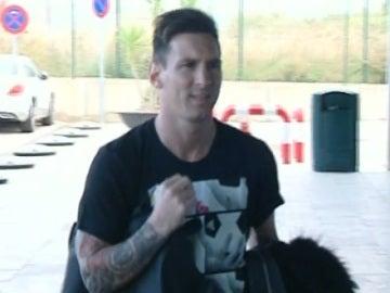 Leo Messi, en la terminal del Prat