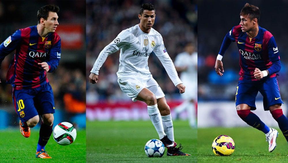 Messi, Cristiano y Neymar