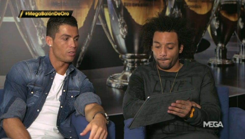 Cristiano y Marcelo en un vídeo de la gala del Balón de Oro