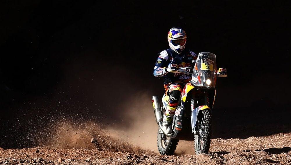 Toby Price, en acción durante el Dakar