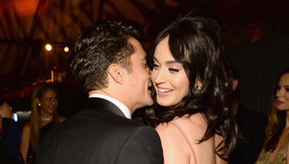 Katy Perry y Orlando Bloom en los Globos de Oro 2016
