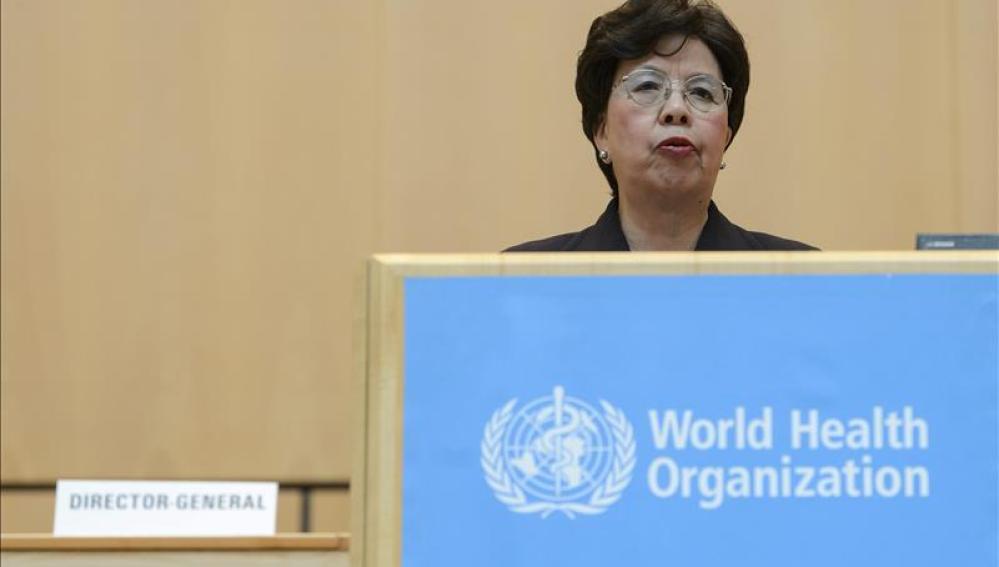 La directora de la Organización Mundial de la Salud (OMS), Margaret Chan