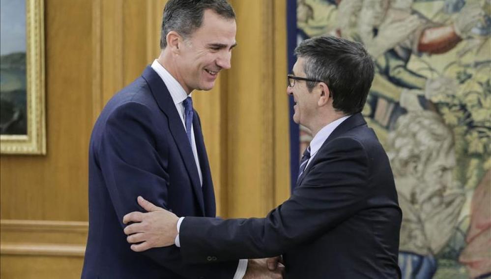 El Rey recibe en la Zarzuela a Patxi López
