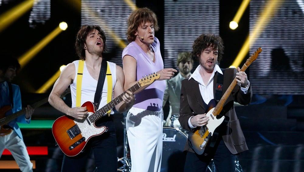 Edu Soto imita a The Rolling Stones