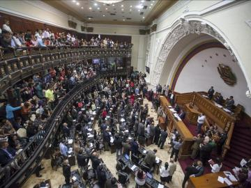 Vista general del hemiciclo de la Asamblea Nacional de Venezuela