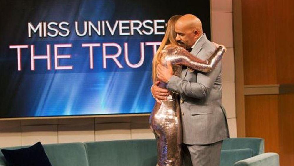 Steve Harvey se disculpa con Miss Colombia, Aridana Guitiérrez