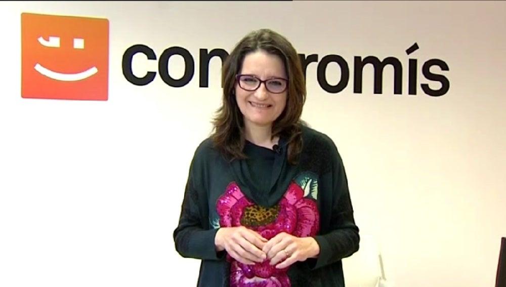 Mónica Oltra, líder de Compromís, durante una entrevista en Espejo Público