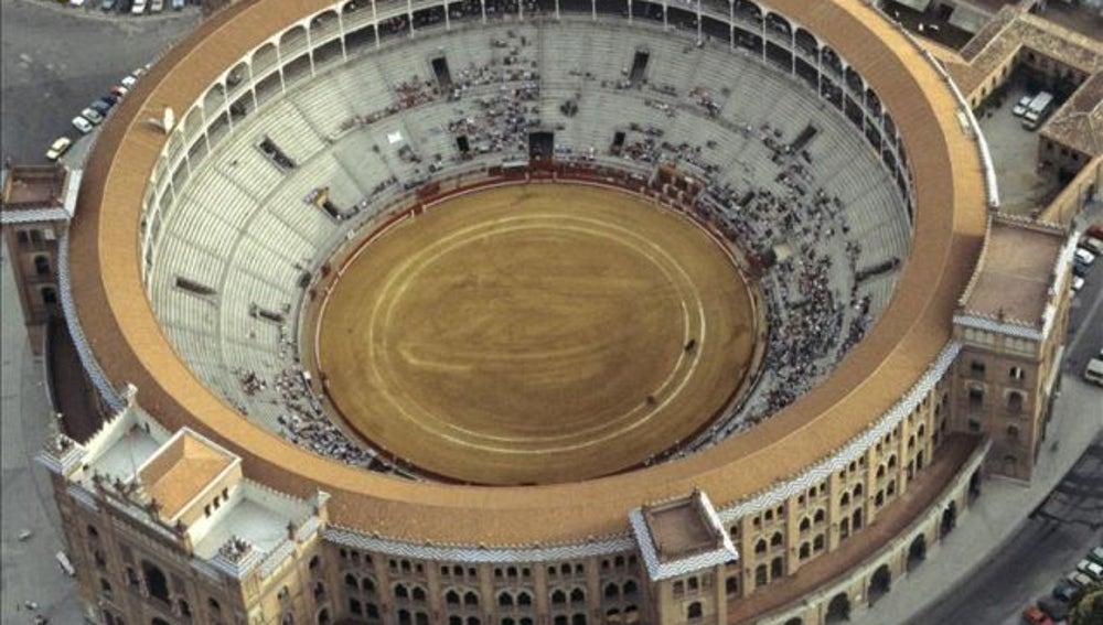 Vista aérea de la plaza de toros de las Ventas