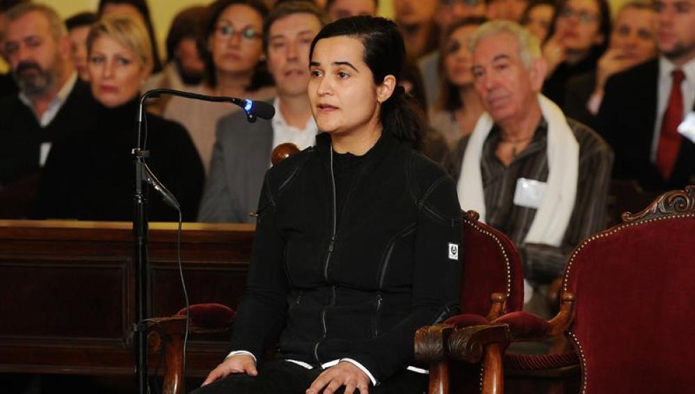Triana Martínez, durante el juicio por el asesinato de Isabel Carrasco