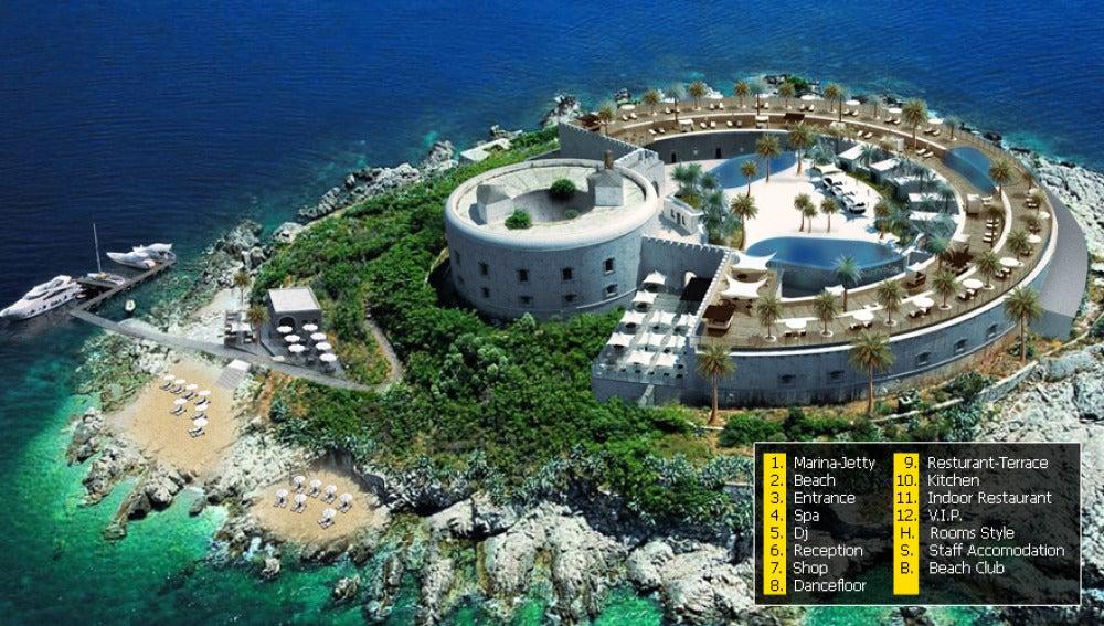 Imagen del proyecto en la isla Maluma
