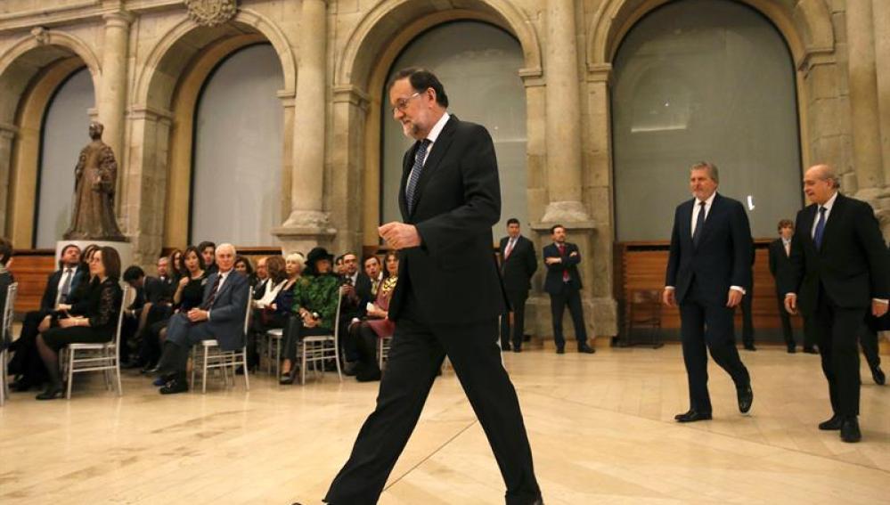 Rajoy, en un acto en el museo del Prado