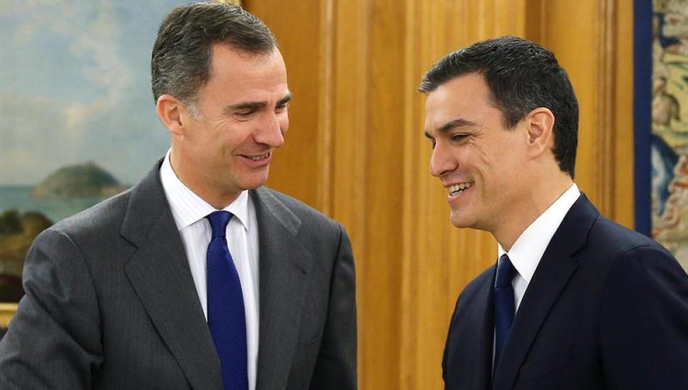Sánchez es recibido por el Rey en Zarzuela