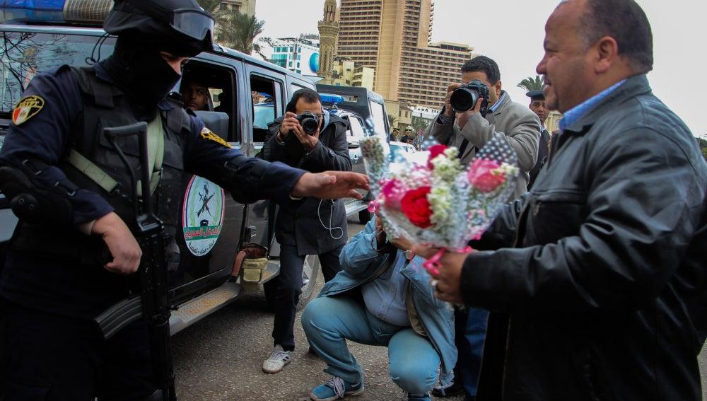 Aniversario de la revolución egipcia en la plaza Tahrir
