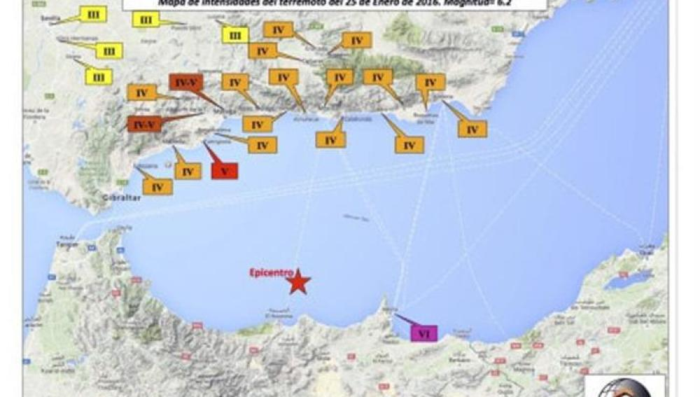 Registro sísmico en el Instituo Andaluz de Geofísica del terremoto