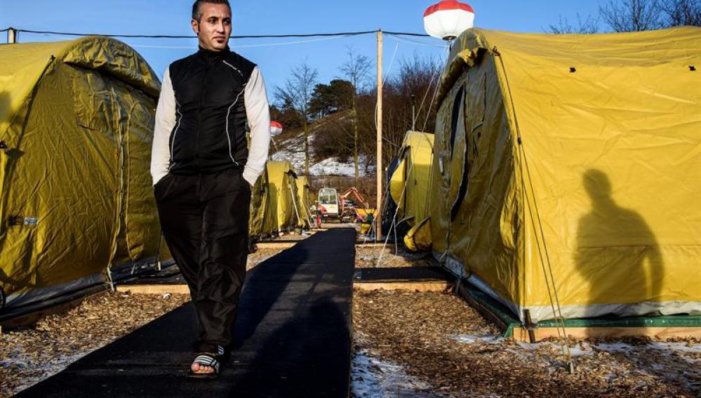 Campamento de refugiados en Dinamarca