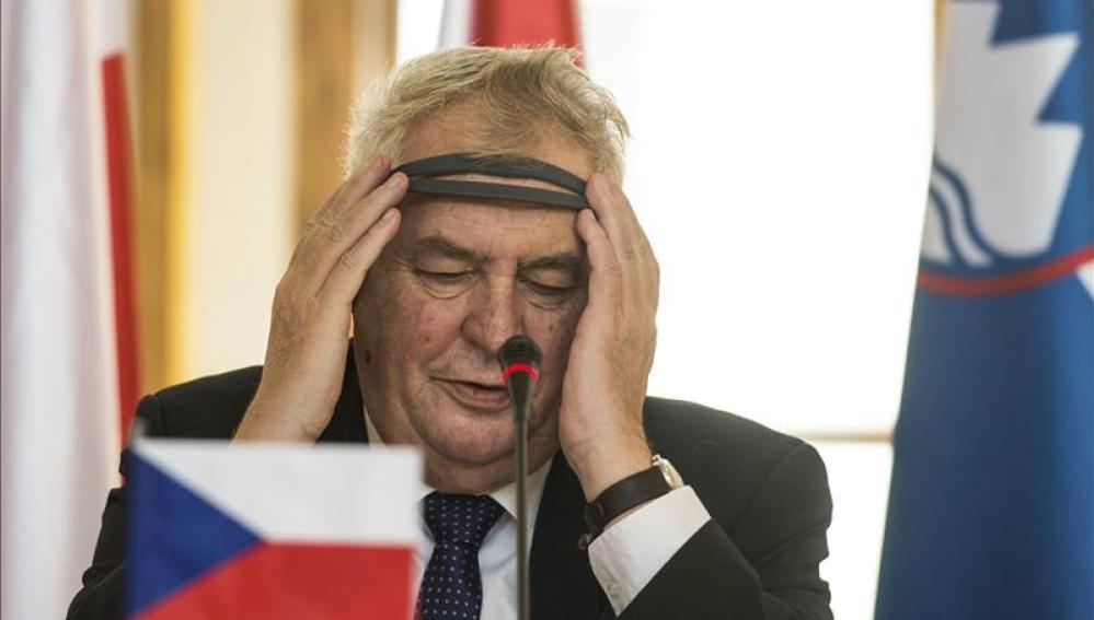 El presidente checo, Milos Zeman