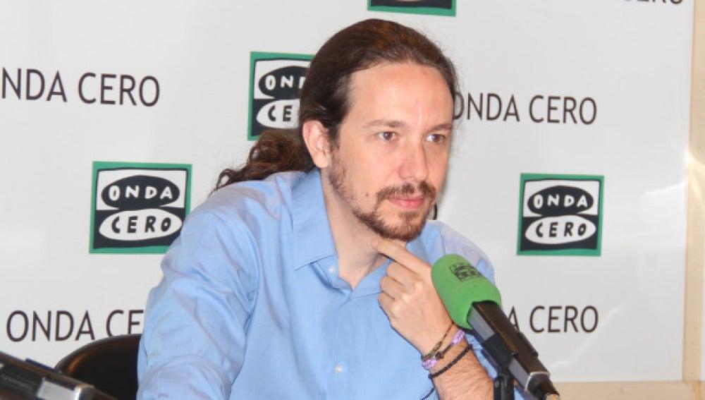 El líder de Podemos, Pablo Iglesias en Onda Cero