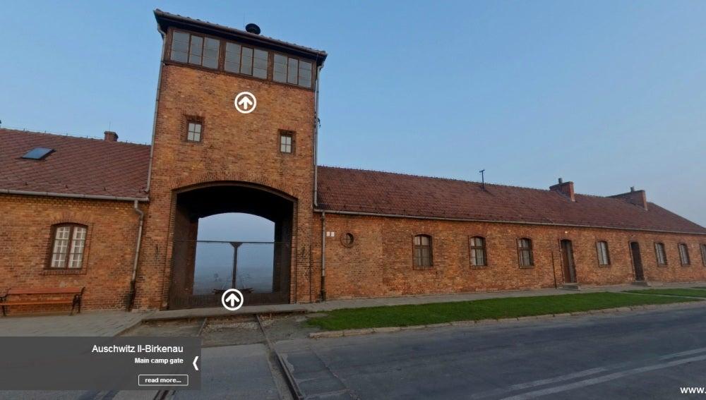 Vista del recorrido virtual a través del campo de concentración