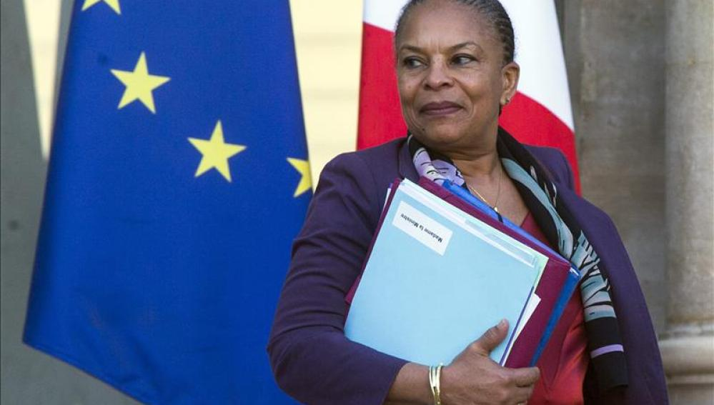 La hasta ahora ministra francesa de Justicia, Christiane Taubira