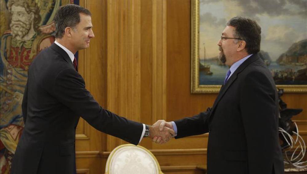 El Rey ha recibido al diputado de Foro Asturias Isidro Martínez Oblanca