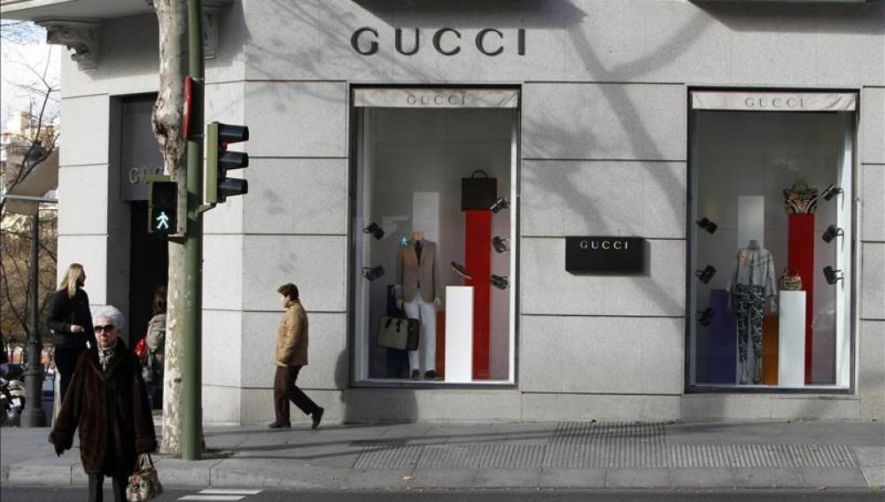 Escaparate de una tienda de moda en Madrid