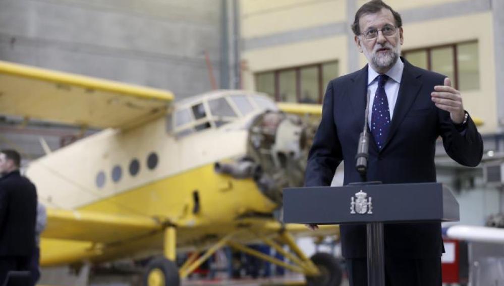 Mariano Rajoy en la visita al centro integrado de Formación Profesional (FP)
