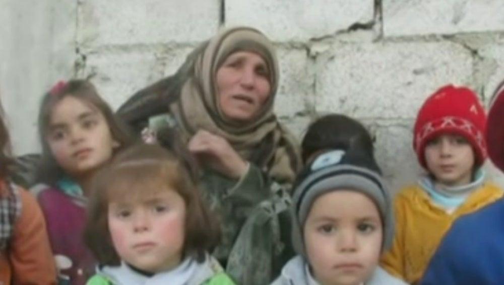 Niños en la ciudad siria de Madaya