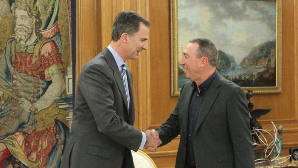 El Rey recibe al representante de Compromís Joan Baldoví