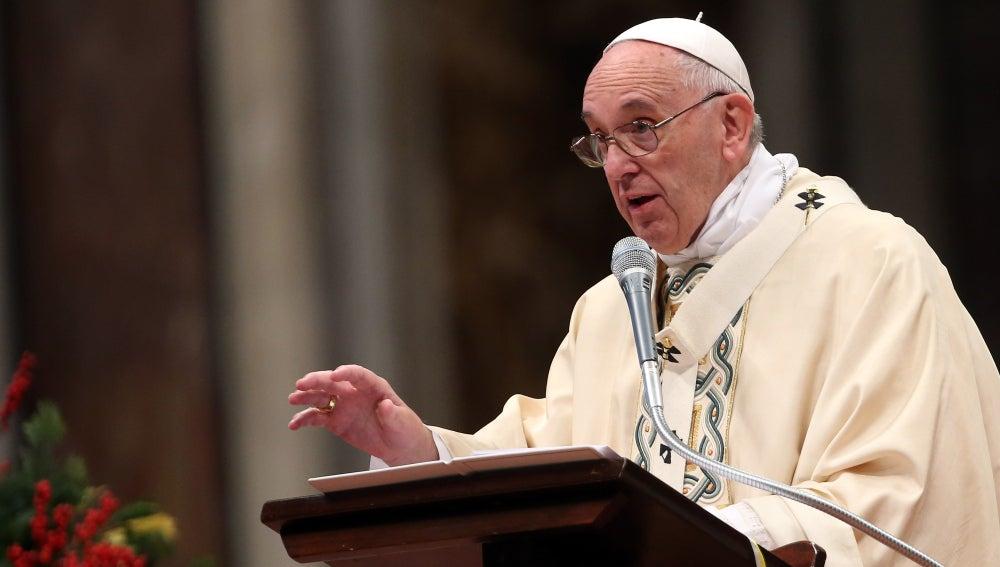 El Papa Francisco, durante una misa