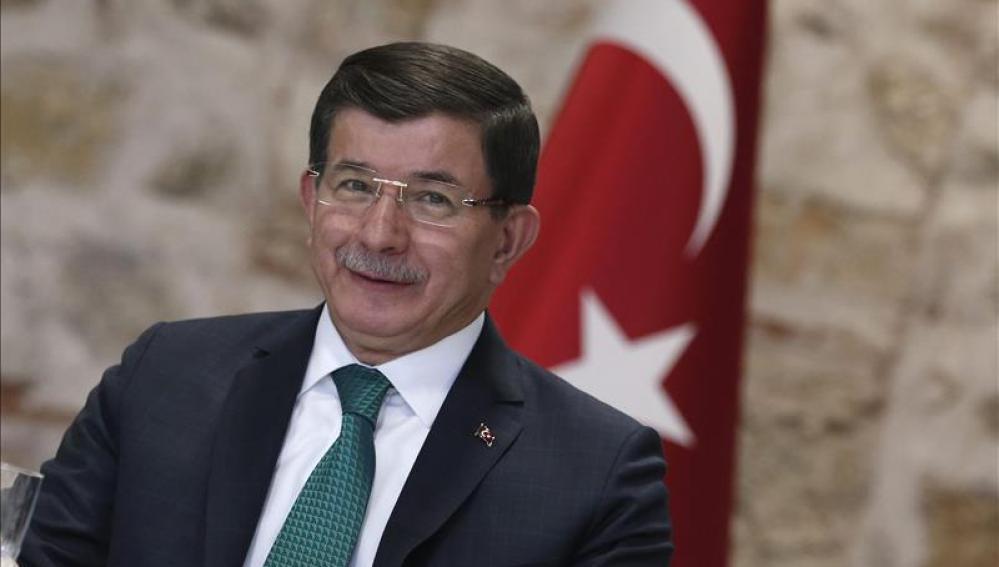 El primer ministro de Turquía en rueda de prensa