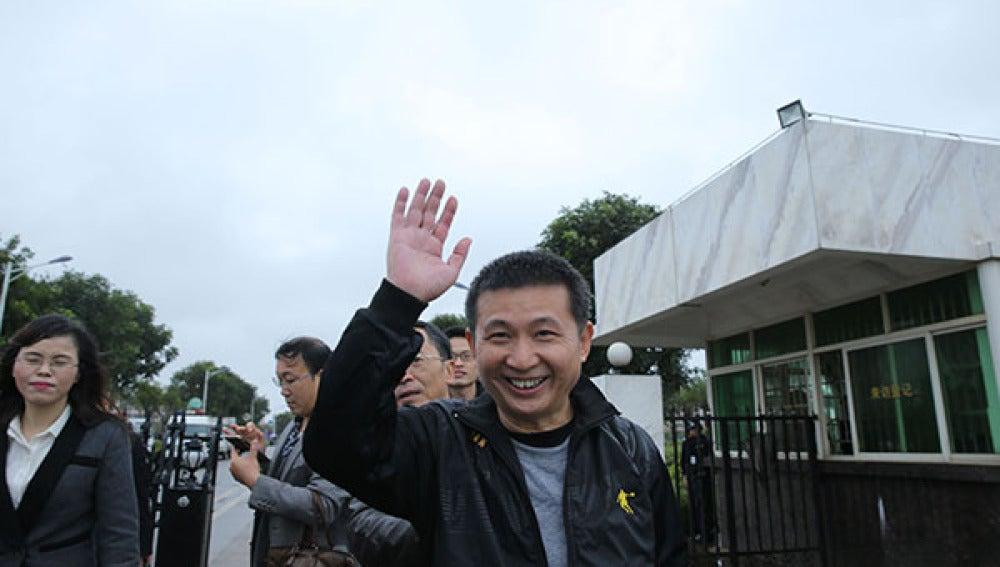 Chen Man tras ser liberado