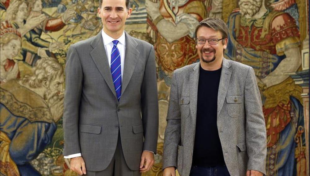 El Rey Felipe VI recibe a Xavier Domènech en Zarzuela
