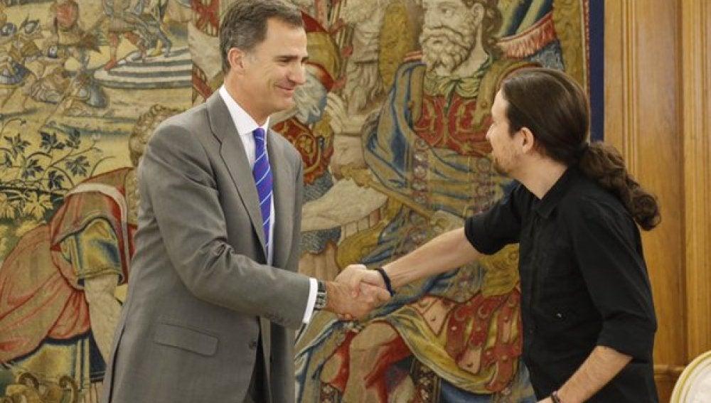 El Rey recibe a Pablo Iglesias en la Zarzuela
