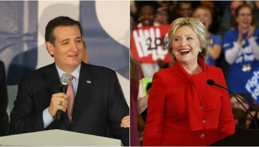 Ted Cruz y Hillary Clinton