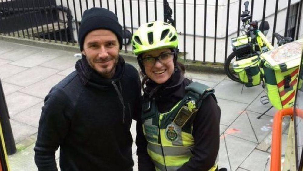 David Beckham y Catherine Maynard