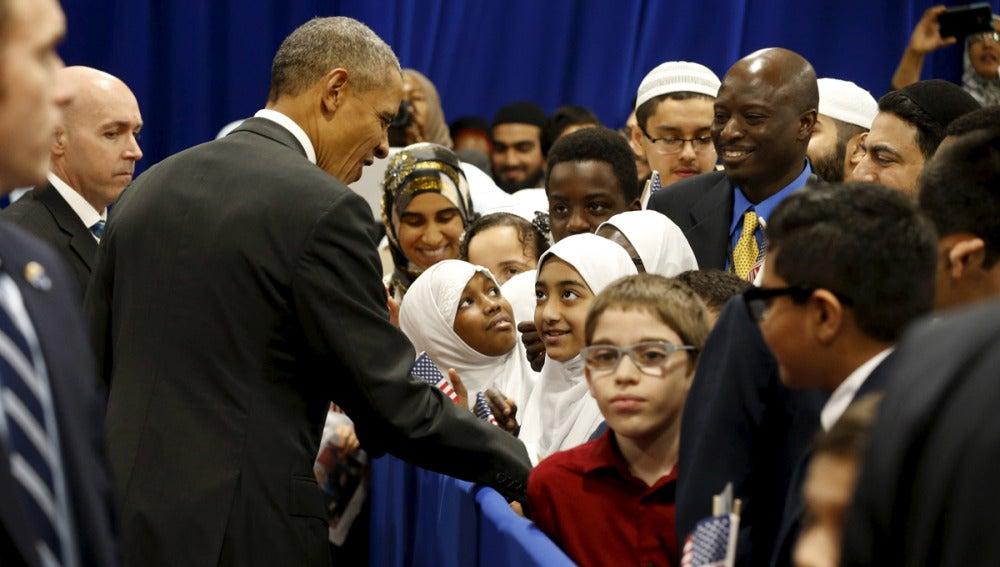 Obama visita la mezquita de Baltimore