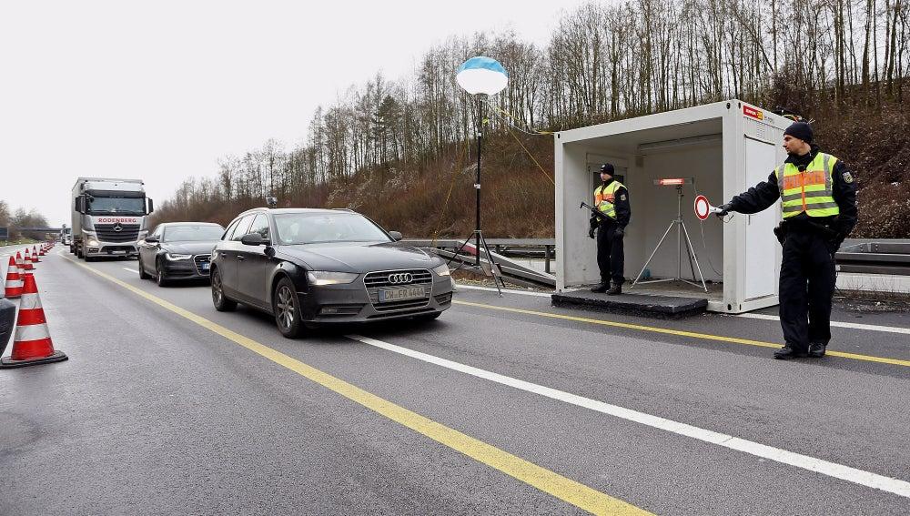Control en la frontera alemana