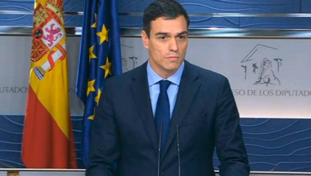 Pedro Sánchez, en rueda de prensa