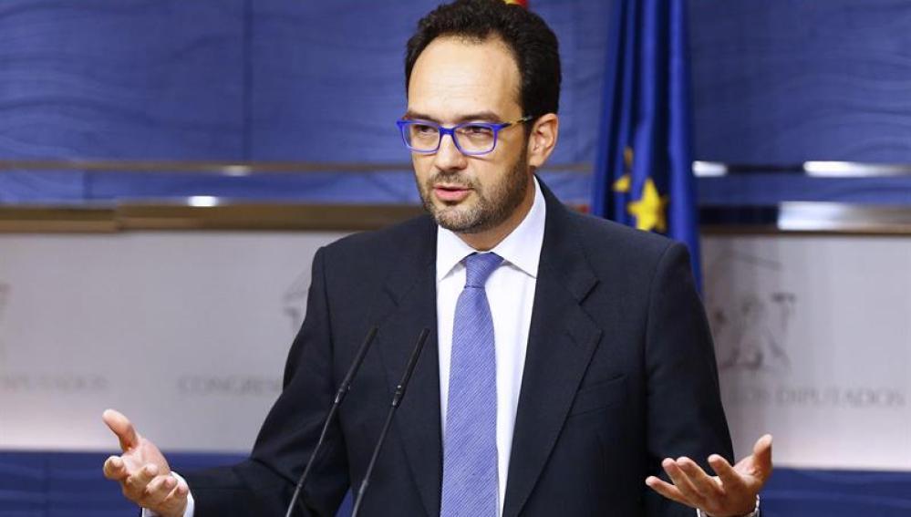 El portavoz socialista en el Congreso, Antonio Hernando