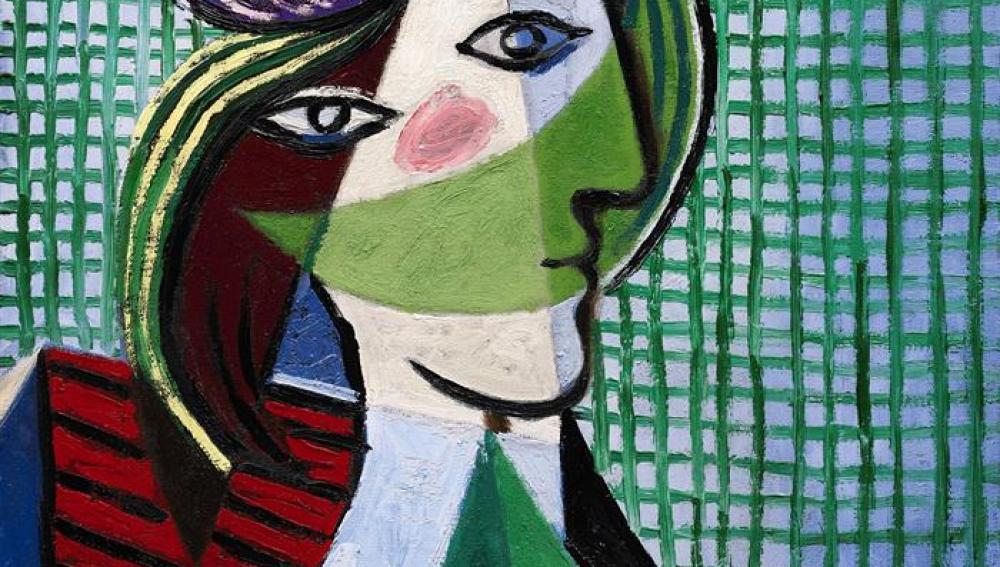 "Óleo ""Tête de femme"" de Pablo Picasso"