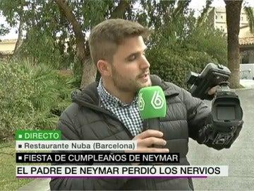 El reportero agredido por el padre de Neymar