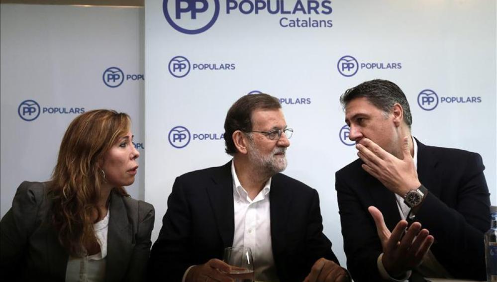 Alicia Sánchez Camacho, Mariano Rajoy y Xavier García Albiol