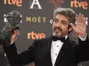 Ricardo Darín con su Goya como mejor actor