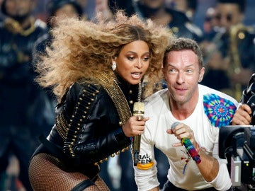 Beyoncé y Chris Martin de Coldplay