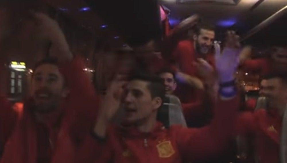 La Selección Española de Fútbol Sala celebra el pase a semifinales del Europeo