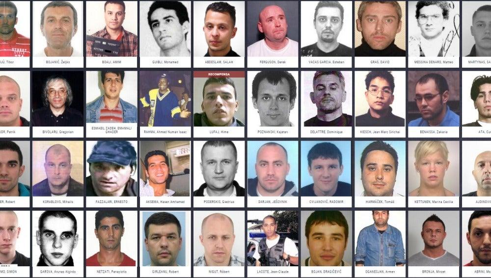 Los fugitivos más buscados en Europa